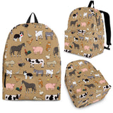 Farm Animals Design #1 Backpack (Tan) - FREE SHIPPING