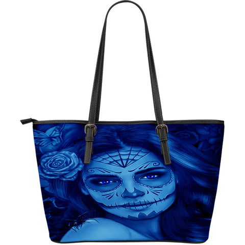 Calavera Fresh Look Design #1 Large Leather Tote Bag!