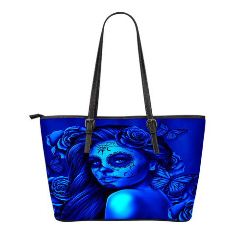 Calavera Fresh Look Design #2 Small Leather Tote Bag!