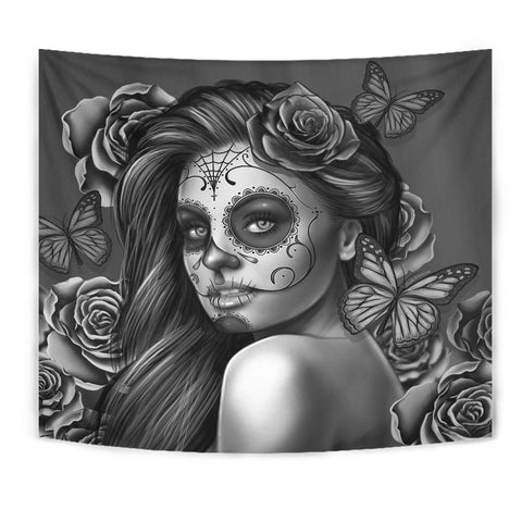Calavera Fresh Look Design #2 Wall Tapestry (Vintage Retro) - FREE SHIPPING