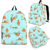 Wildlife Collection - Lazy Sloths (Light Blue) Backpack - FREE SHIPPING