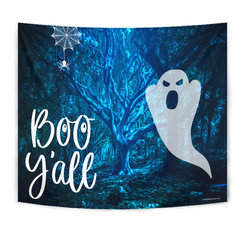 Boo Y'All - Halloween Wall Tapestry - FREE SHIPPING