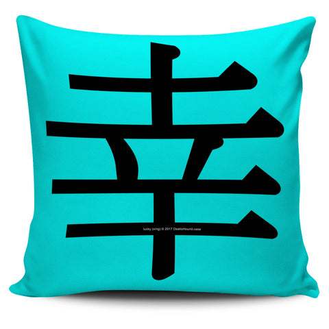 Lucky - Feng Shui Zen Pictograph Pillow Cover!