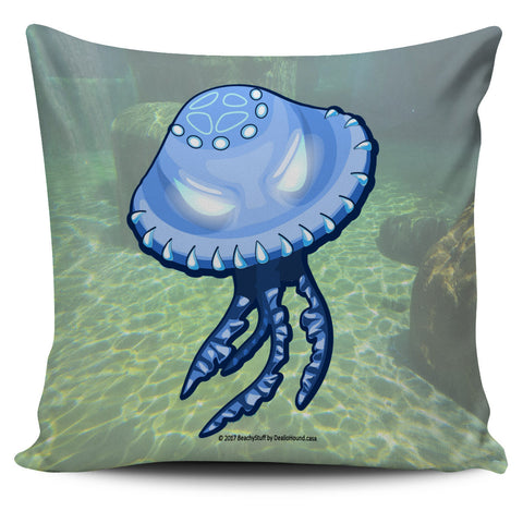 Scary Sea Life Pillow Covers - Sea Green!