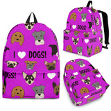 I Love Dogs Backpack (FPD Lilac) - FREE SHIPPING