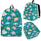 Wildlife Collection - Elephants (Teal) Backpack - FREE SHIPPING