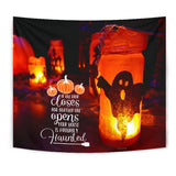 If One Door Closes - Halloween Wall Tapestry - FREE SHIPPING
