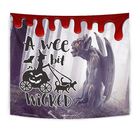 A Wee Bit Wicked - Halloween Wall Tapestry - FREE SHIPPING