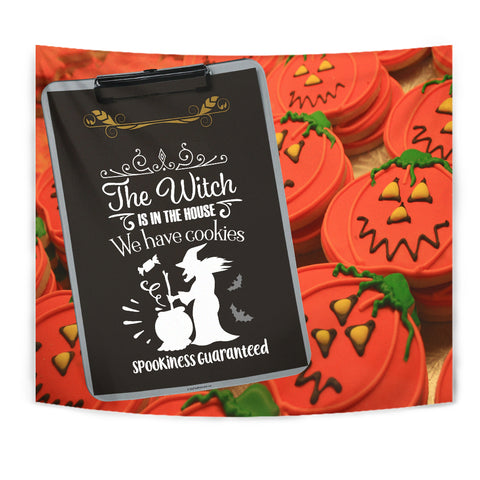 The Witch Is In The House - Halloween Wall Tapestry - FREE SHIPPING