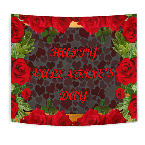 Happy Valentine's Day Design #1 Wall Tapestry - FREE SHIPPING
