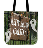 Sleepy Hollow Cemetery Halloween Trick Or Treat Cloth Tote Goody Bag