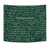 Mathematica Chalkboard Design #2 Tapestry Green - FREE SHIPPING