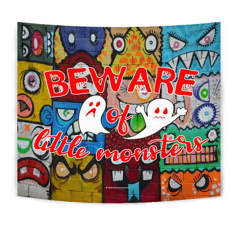 Beware Of Little Monsters - Halloween Wall Tapestry - FREE SHIPPING