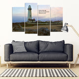 By Day And By Night Multi-Panel Haiku Canvas Wall Art  - FREE SHIPPING