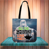 All The Ghouls Love Me Halloween Trick Or Treat Cloth Tote Goody Bag
