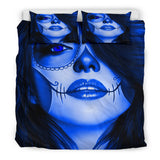 Calavera Fresh Look Design #3 Duvet Cover Set (Lapis Lazuli Blue) - FREE SHIPPING
