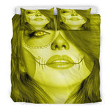 Calavera Fresh Look Design #3 Duvet Cover Set (Yellow Chrysoberyl) - FREE SHIPPING