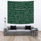 Mathematica Chalkboard Design #1 Tapestry Green - FREE SHIPPING
