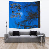 Broom Parking - Halloween Wall Tapestry - FREE SHIPPING