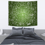 Science Chalkboard Design #1 Tapestry Green - FREE SHIPPING