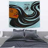 Broom Hair Don't Care Design #2 - Halloween Wall Tapestry - FREE SHIPPING