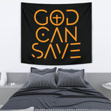 God Can Save Wall Tapestry (Black) - FREE SHIPPING