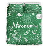 Astronomy Chalkboard Duvet Cover Set (Green) - FREE SHIPPING