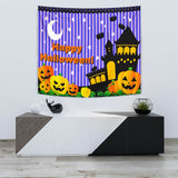 Happy Halloween Design #3 - Halloween Wall Tapestry - FREE SHIPPING