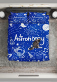 Astronomy Chalkboard Duvet Cover Set (Midnight Blue) - FREE SHIPPING