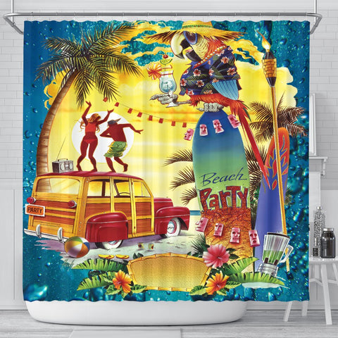 Jim Mazzotta Signature Line - Beach Party - Shower Curtain - FREE SHIPPING
