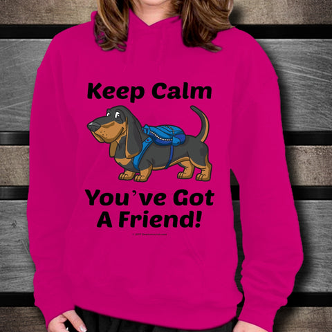 Keep Calm - You've Got A Friend - Basset Hound Unisex Hoodie