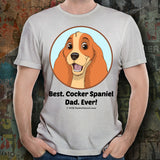 Best Cocker Spaniel Dad Ever Unisex Tee