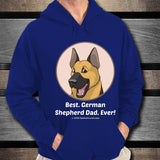 Best German Shepherd Dad Ever Unisex Hoodie