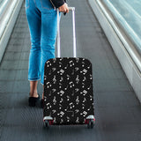 Musical Notes Design #1 (Black) Luggage Cover - FREE SHIPPING