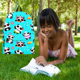 Cute Pandas Design #1 Backpack (Blue) - FREE SHIPPING