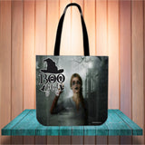 Bootiful Halloween Trick Or Treat Cloth Tote Goody Bag