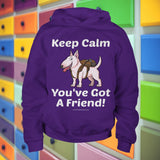 Keep Calm - You've Got A Friend - Bull Terrier Youth Hoodie