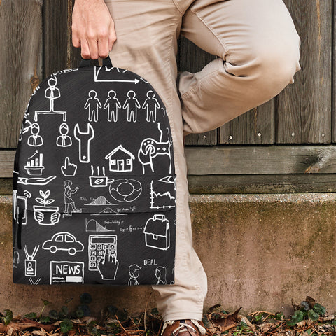 Business Success Chalkboard Backpack Design #2 - FREE SHIPPING
