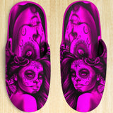Calavera Fresh Look Design #2 Slippers (Pink Easy On The Eyes Rose) - FREE SHIPPING