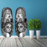 Calavera Fresh Look Design #2 Slippers (Vintage Retro) - FREE SHIPPING