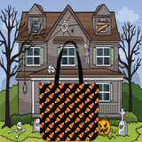 Candy Corn Halloween Trick Or Treat Cloth Tote Goody Bag