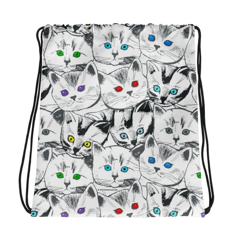 Cats Galore Drawstring Bag