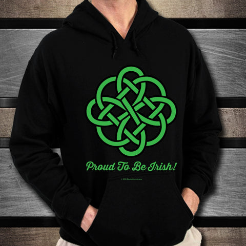 Celtic Knot Proud To Be Irish Unisex Hoodie Design #1