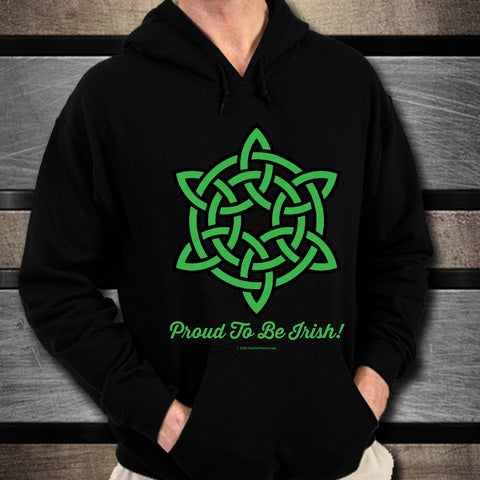 Celtic Knot Proud To Be Irish Unisex Hoodie Design #2