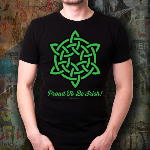 Celtic Knot Proud To Be Irish Unisex Tee Design #2