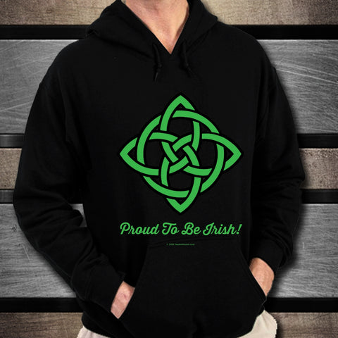 Celtic Knot Proud To Be Irish Unisex Hoodie Design #3
