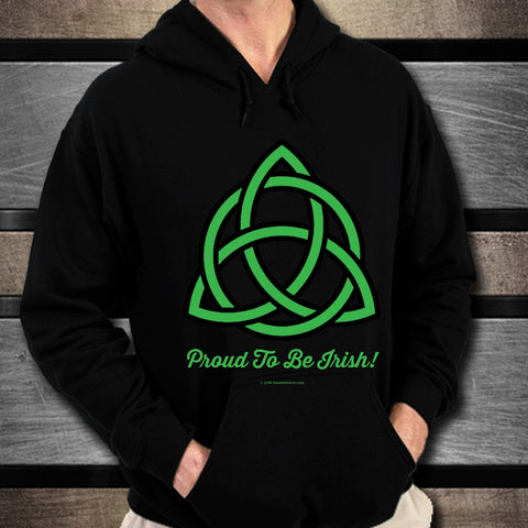 Celtic Knot Proud To Be Irish Unisex Hoodie Design #5