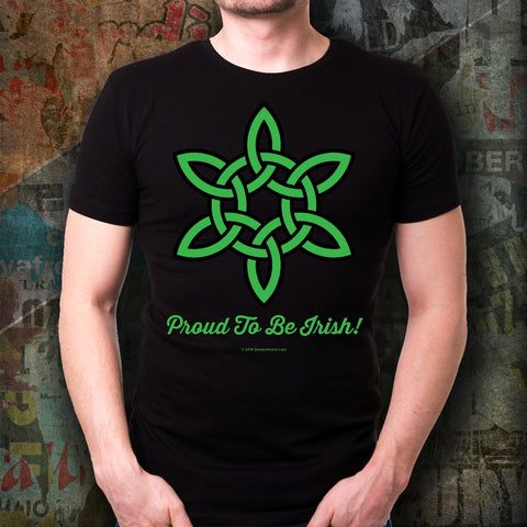 Celtic Knot Proud To Be Irish Unisex Tee Design #6