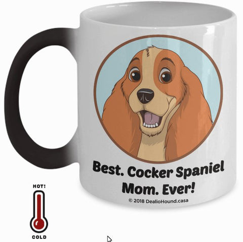 Best Cocker Spaniel Dad / Mom Ever Color-Changing Coffee Mug