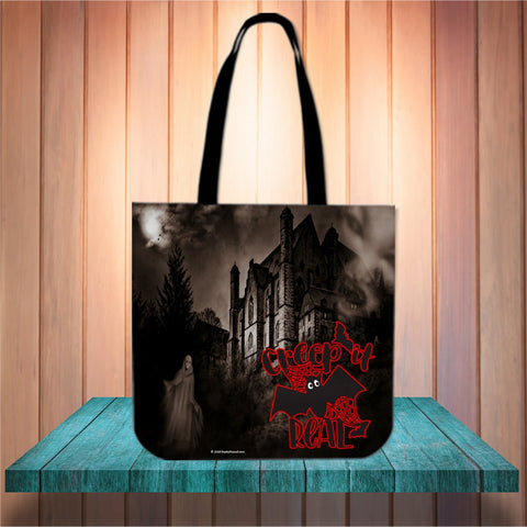 Creep It Real Halloween Trick Or Treat Cloth Tote Goody Bag